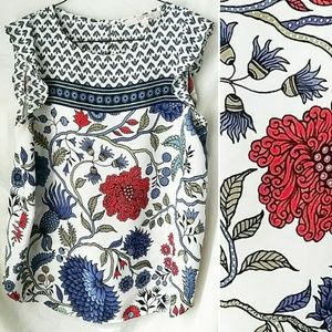 Ann Taylor LOFT Floral Sleeveless Blouse